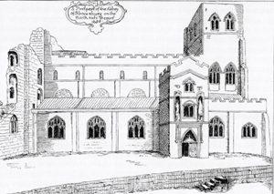 Shrewsbury Abbey in 1658