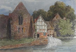 Abbey Mill in the early 19th century ©Shropshire Archives
