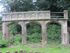 Arches in Coleham School grounds