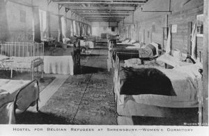 Belgian refugee centre at the Armoury, 1914 ©Shropshire Archives