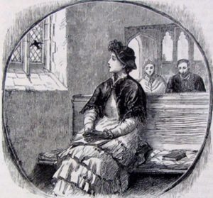 'The Bird in the Church', from a Victorian illustration
