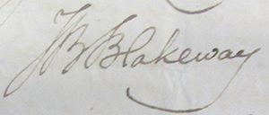 John Blakeway's signature