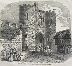 Lower Castle Gate (notice the statue) (©Shropshire Archives)