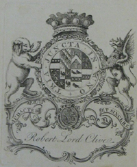 Robert Clive's book plate