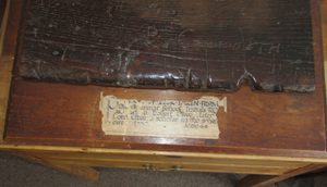 Clive's school desk (now in Market Drayton Museum)