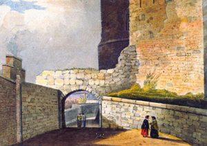 Dana Walk and Shrewsbury Castle, mid 19th century, by John Homes Smith