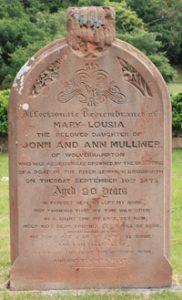 Memorial to a victim of drowning at Bridgnorth