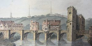 The English Bridge Gate (©Shropshire Archives)