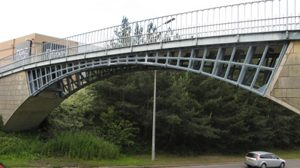 Hall Park Way Bridge, Telford, using the original ribs from Cound Bridge