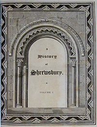 Frontispiece from Owen and Blakeway's History of Shrewsbury