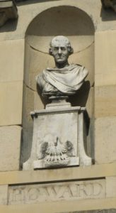 Howard's bust above the prison entrance