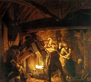 'The Iron Forge' by Joseph Wright