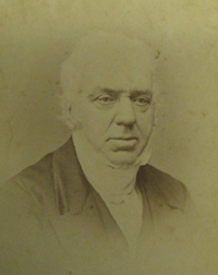 John Hazledine as Mayor, 1855