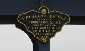 Plaque to Henry Robertson on Kingsland Bridge, Shrewsbury