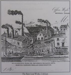 View of part of the works from headed notepaper