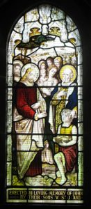 Memorial windows to John and Rhoda Hazledine
