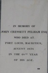 Memorial in Cound Church