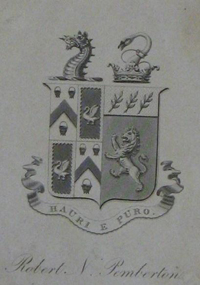 RN Pemberton's bookplate