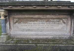 Memorial to Henry Pidgeon in Shrewsbury Cemetery