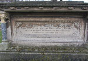 Memorial to Henry Pidgeon in Shrewsbury Cemetery