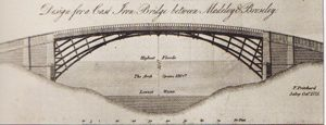 Pritchard's original design for the Ironbridge
