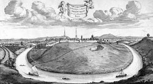The Quarry in Shrewsbury before it was developed