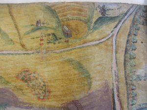 Plan of rabbit warren (17th century)