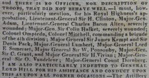 Part of Wellington's Waterloo dispatch