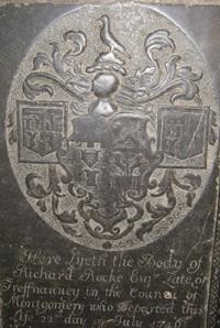 Rocke family memorial in Shrewsbury Abbey