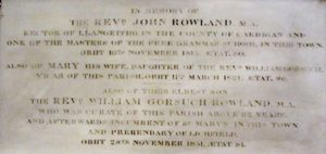 Rowland memorial tablet – St Giles