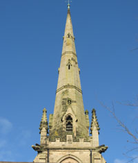 Shrewsbury Cemetery – spire in the Gothic style