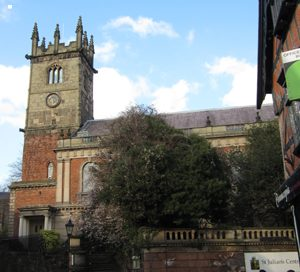 St Julian's today - notice the 12th century base to the tower, the 15th century upper tower, and the Victorian facade