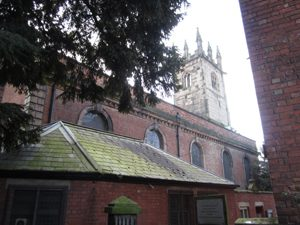 Rear of St Julian's, showing Pritchard's original design
