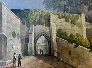 St Mary's Water Gate in the early 1800s (©Shropshire Historical and Archaeological Society)