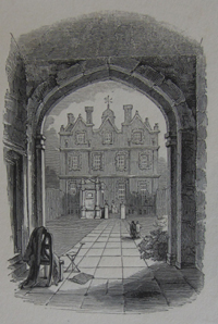Whitehall, through the entrance gate, c1840