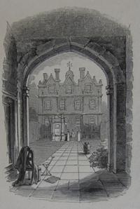Whitehall, through the entrance gate, c1840